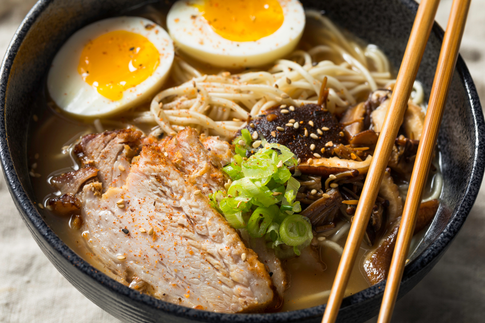 a bowl of ramen
