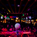 microphone on stage | Louisville comedy clubs